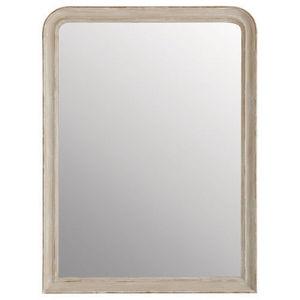 Maisons du monde - miroir elianne arrondi beige 90x120 - Miroir