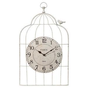 Maisons du monde - horloge cage oiseau - Horloge Murale