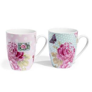 Maisons du monde - assortiment de 6 mugs floralie - Mug