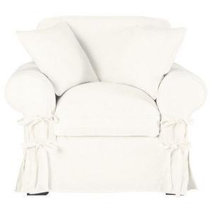 Maisons du monde - fauteuil lin blanc butterfly - Fauteuil