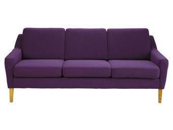 Maisons du monde - banquette 3 places linara violet mad men - Banquette