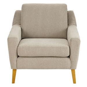 Maisons du monde - fauteuil linara mastic mad men - Fauteuil