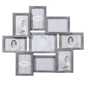 Maisons du monde - cadre 9 vues relief bois gris - Cadre Photo