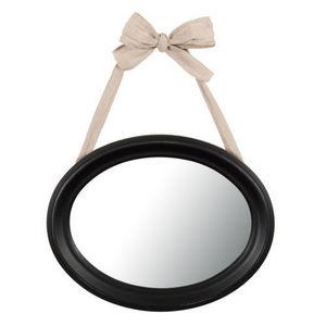 Maisons du monde - miroir ovale noir collection - Miroir