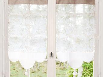 Maisons du monde - rideau court roseraie beige - Brise Bise