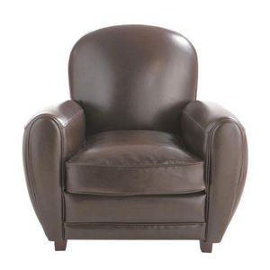 Maisons du monde - fauteuil marron oxford - Fauteuil