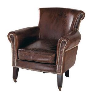 Maisons du monde - fauteuil cuir cambridge - Fauteuil