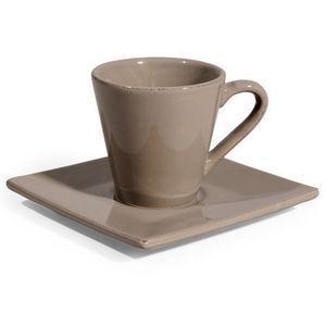 Maisons du monde - tasse et soucoupe à café inspiration taupe - Tasse À Café