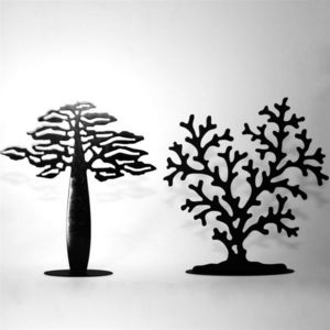 YAN HUBLOT - arbre � bijoux corail finition m�tal - Porte Bijoux