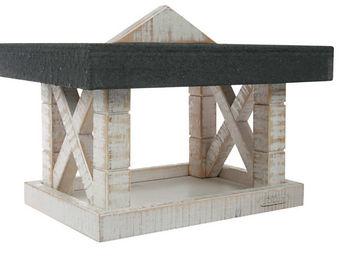 ZOLUX - mangeoire boréal en bois blanc 34,5x26x19cm - Mangeoire À Oiseaux