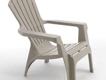 WILSA GARDEN - fauteuil adirondack beige en résine polypropylène  - Fauteuil De Jardin