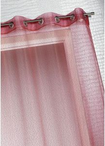 HOMEMAISON.COM - voilage organza � fines rayures horizontales - Voilage