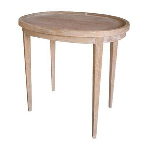 DECO PRIVE - table a the en bois ceruse - Table De Chevet