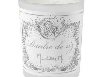 Mathilde M - bougie verre givré, parfum poudre de riz - Bougie Parfumée