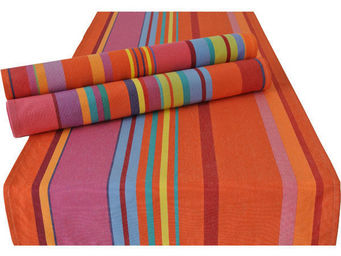 Les Toiles Du Soleil - double set de table bonbons plume capucine - Set De Table
