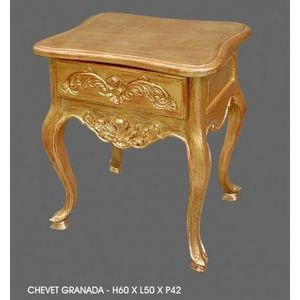 DECO PRIVE - chevet en bois dore modele granada - Table De Chevet