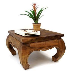 DECO PRIVE - table basse opium 60 x 60 cm bois massif claire - Table Basse Carrée
