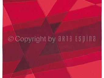 Arte Espina - tapis de petit tapis luminous rouge 90x160 en acry - Tapis Contemporain