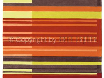 Arte Espina - tapis de petit tapis colour codes rouge 90x160 en  - Tapis Contemporain