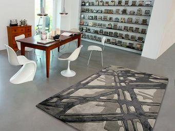 Arte Espina - tapis de salon loft bamboo 1 gris 170x240 en acryl - Tapis Contemporain