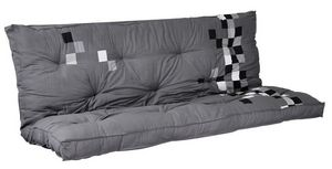 Futon Design - matelas-futon pixel gris dos eveloppant 135 x 190  - Matelas Banquette Bz