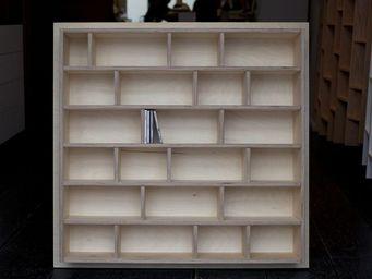 MALHERBE EDITION - etagère à cd, séparations bois - Bibliothèque Sur Mesure