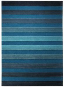 ESPRIT - tapis cross walk bleu 200x300 en acrylique - Tapis Contemporain