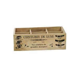 WHITE LABEL - boîte astucieuse 6 cases pour ceintures - Boite De Rangement