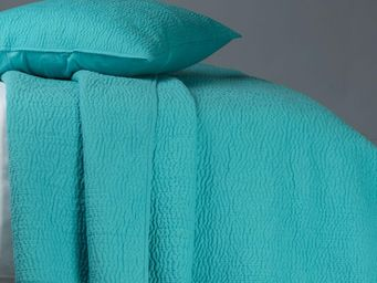BLANC D'IVOIRE - cesar turquoise - Couvre Lit