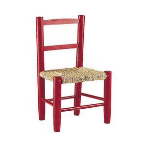 Aubry-Gaspard - petite chaise bois pour enfant rouge - Chaise Enfant