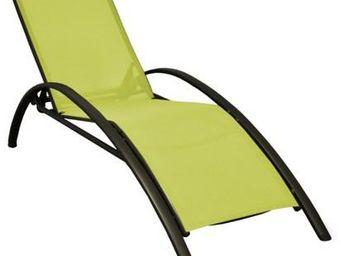 PROLOISIRS - lit de jardin sartene en aluminium et textilène li - Chaise Longue De Jardin