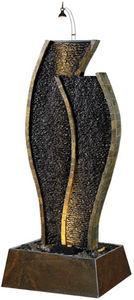 Cactose - fontaine tulipe en pierre de schiste 60x50x145cm - Fontaine D'intérieur
