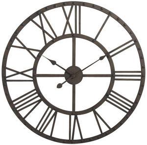 Aubry-Gaspard - horloge ossature en métal murale 70x7cm - Horloge Murale