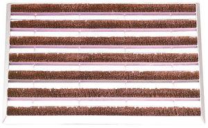 BEST FOR BOOTS - paillasson en m�tal galvanis� rouleaux de coco 59x - Paillasson