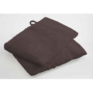 TODAY - lot de 2 gants de toilette - couleur - marron - Serviette De Toilette