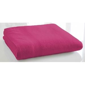 TODAY - serviette de bain unie 90 x 150 cm - couleur - ros - Serviette De Toilette