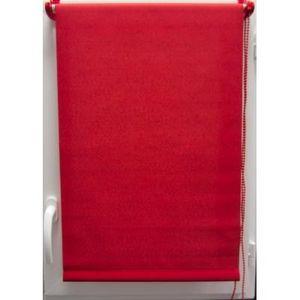 Luance - store enrouleur tamisant 45x180 cm rouge - Store Occultant