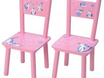 La Chaise Longue - set de 2 chaises enfants petits chats - Chaise Enfant