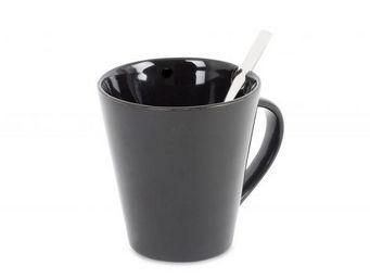 Balvi - tasse�&�cuill�re cofix noir c�ramique - Tasse � Caf�