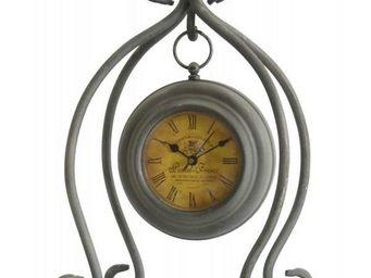 L'HERITIER DU TEMPS - horloge à poser en fer 28cm - Horloge À Poser
