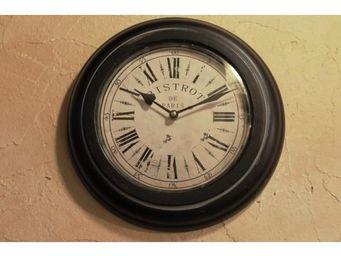 L'HERITIER DU TEMPS - horloge hublot fer patiné ancien ø33cm - Horloge Murale