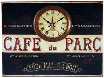L'HERITIER DU TEMPS - horloge plaque publicitaire fer - Horloge Murale