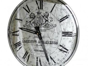 L'HERITIER DU TEMPS - horloge miroir murale en verre 39cm - Horloge Murale