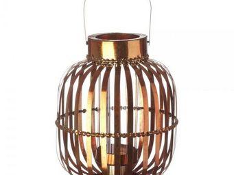 La Chaise Longue - lanterne shinny orange - Lanterne D'extérieur