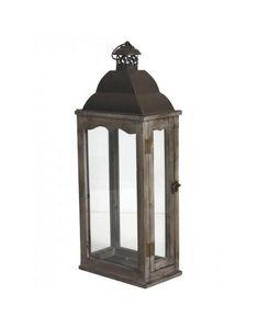 L'HERITIER DU TEMPS - lanterne fer et bois - Lanterne D'extérieur
