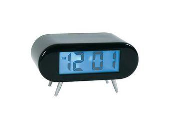 La Chaise Longue - réveil horloge avec lampe noir - Réveil Matin