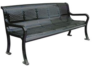 KAY PARK - roll formed perforated benches - Banc Urbain