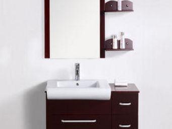 UsiRama.com - meuble salle de bain black-swan design 90cm - Meuble De Salle De Bains