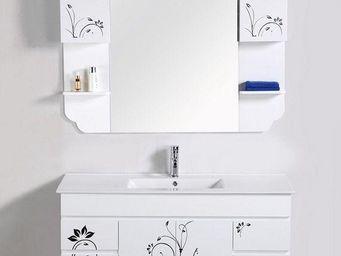 UsiRama.com - meuble salle de bain bain de peintre fleur 1.2m - Meuble De Salle De Bains