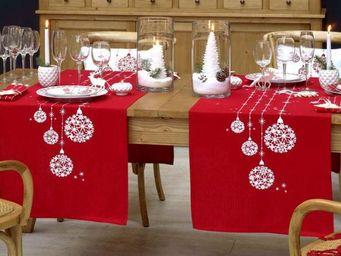 Interior's - chemin de table enchant� - Nappe De No�l